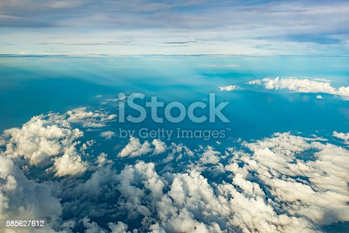 621114928istockphoto White clouds over blue ocean 585627612