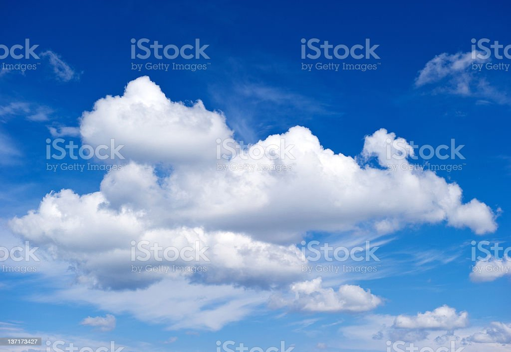 white clouds white clouds. perfect blue sky Backgrounds Stock Photo
