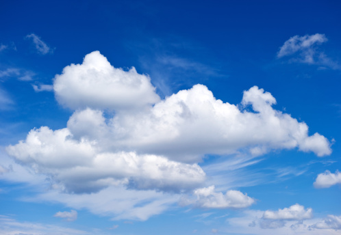 White Clouds Stock Photo - Download Image Now