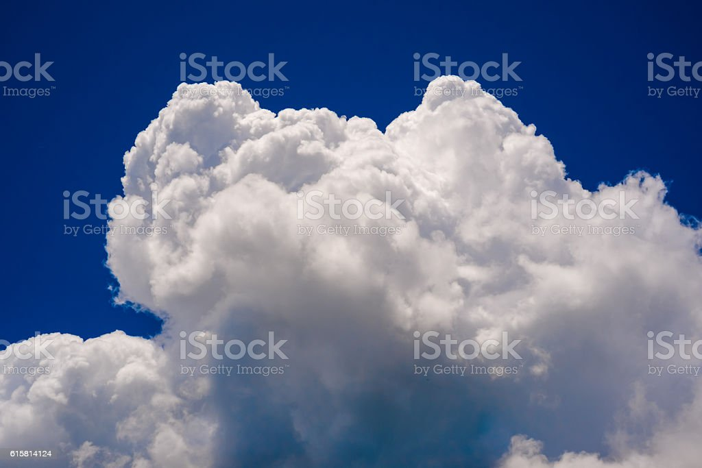White clouds that raged in the blue sky stock photo
