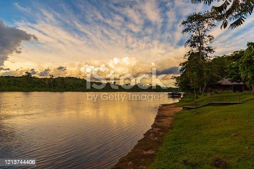 Sunset On The Suriname River At Berg En Dal Brokopondo