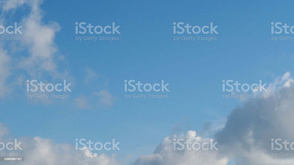 White cloudy and blue sky background royalty-free stock photo