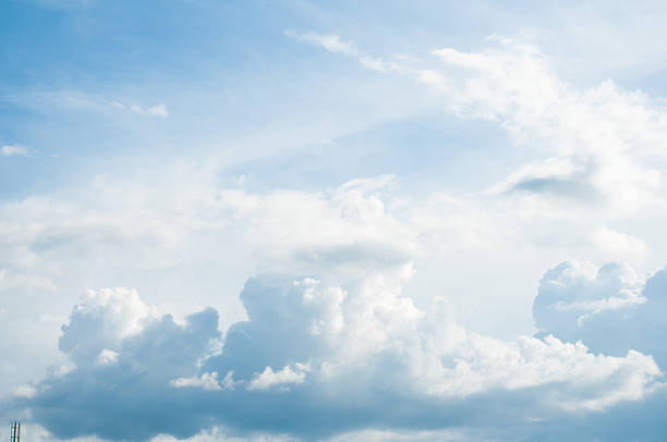 White Cloudy sky stock photo