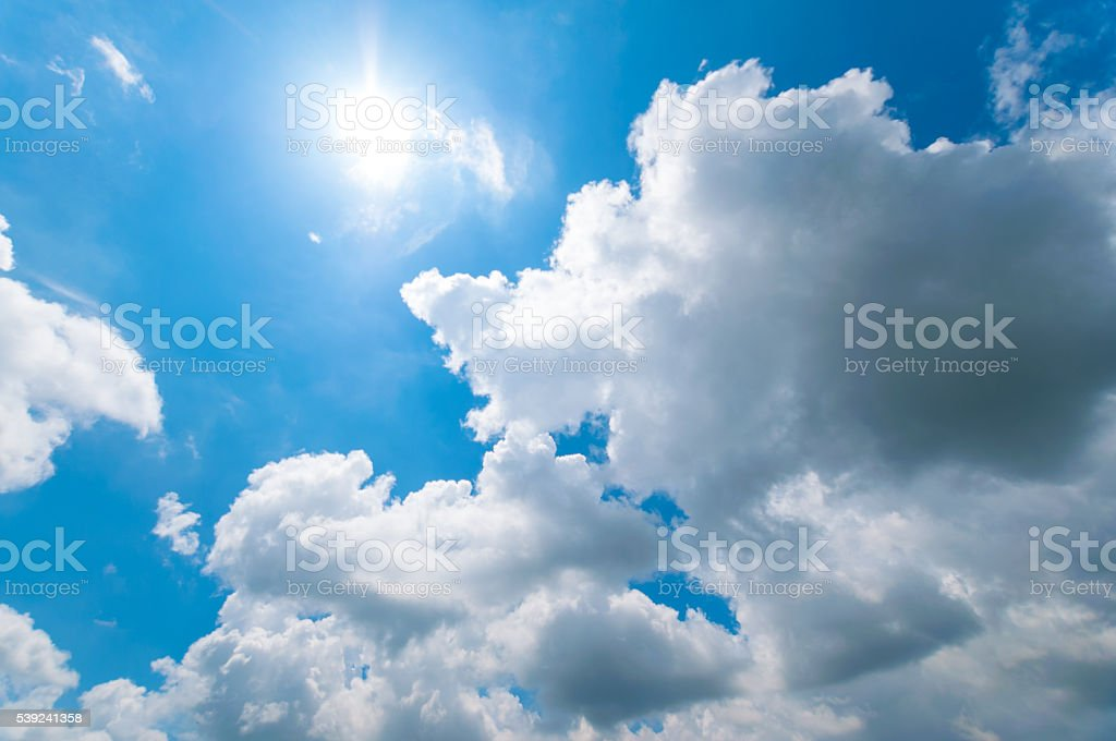 White Cloudy sky royalty-free stock photo