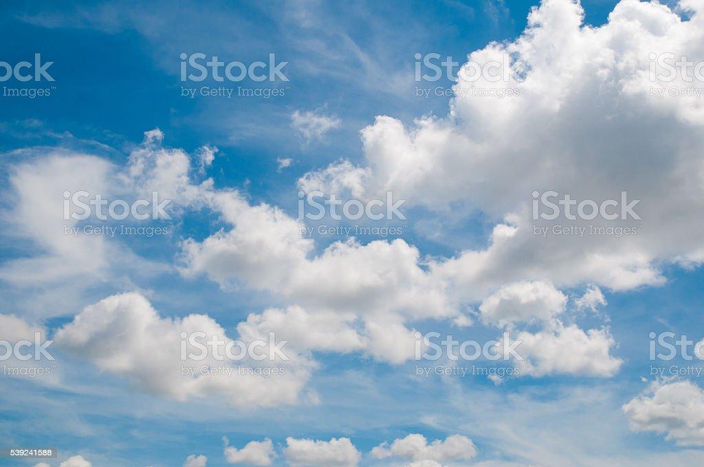 White Cloudy sky royalty-free stock photo