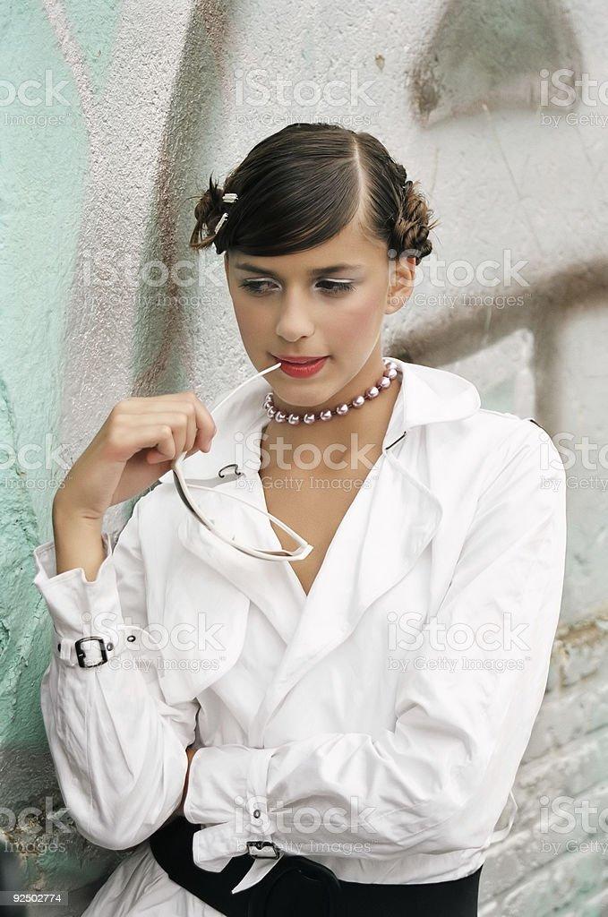 White coat royalty-free stock photo
