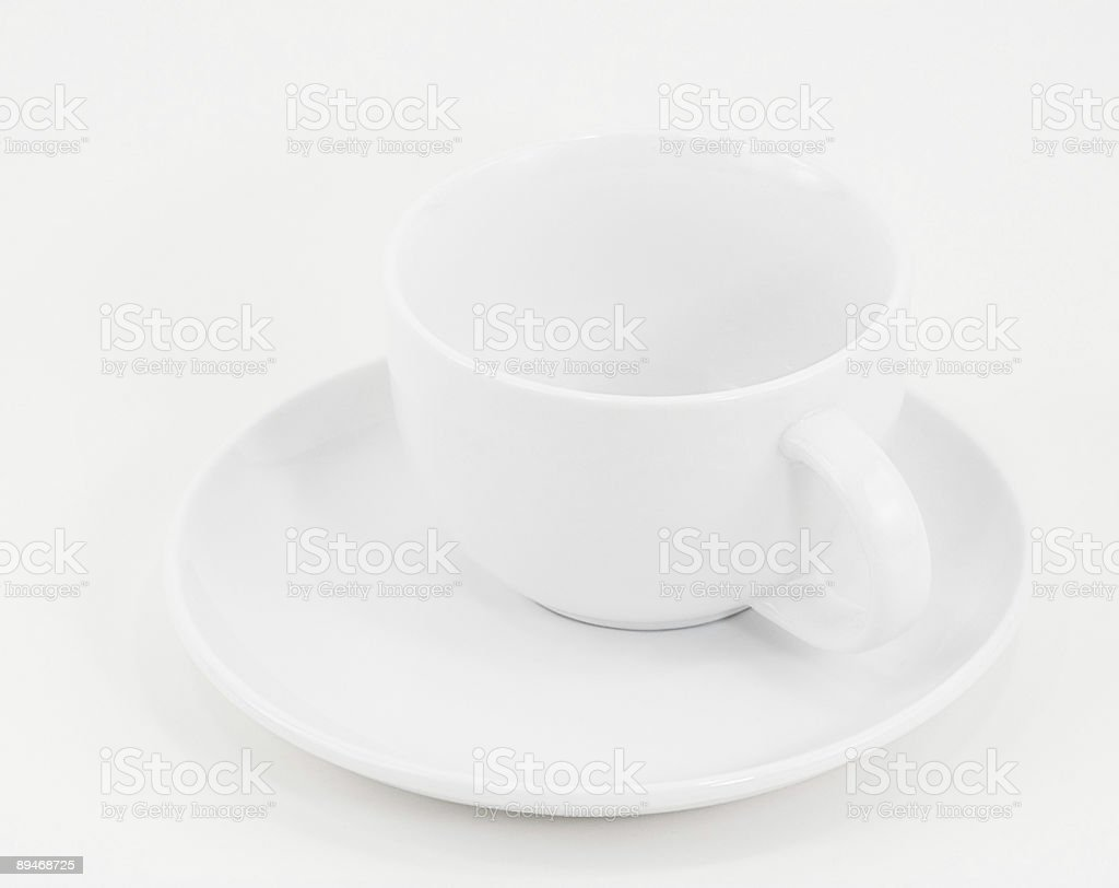 White Coffee Cup and Saucer Two royalty-free stock photo