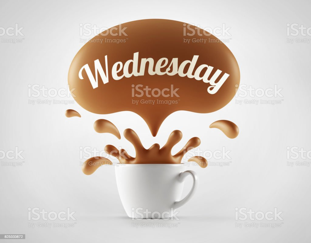 White Coffee Cup isolated stock photo