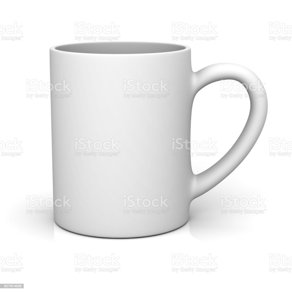 0c7f188a50c White Coffee Cup Or Blank Mug Isolated On White Background With ...