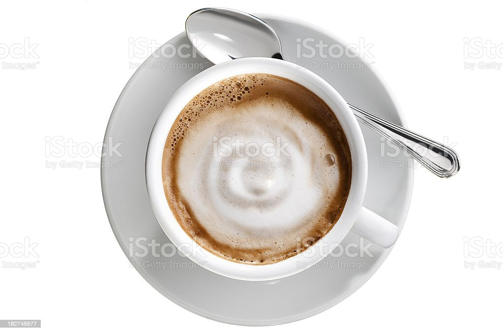 White Coffee Cup.Color image stock photo