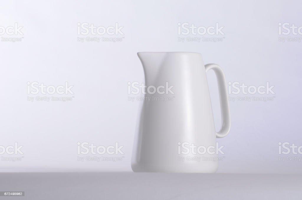 White coffee mug and white background stock photo