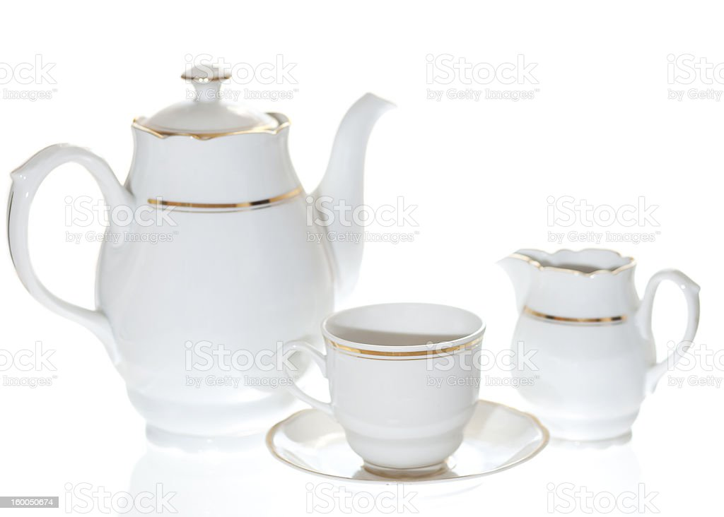 White Coffee Set stock photo