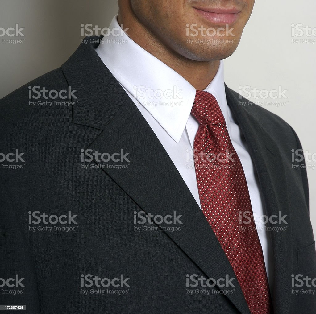 White Collar Worker Businessman Portrait Close-Up stock photo