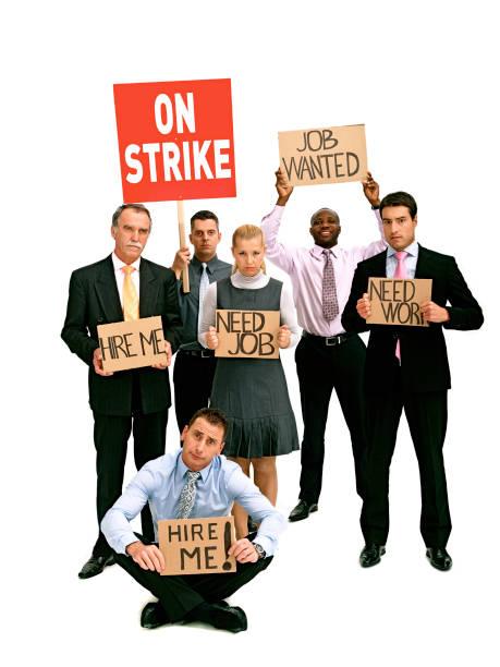 greve de trabalhadores de espinhaços branco - greve imagens e fotografias de stock