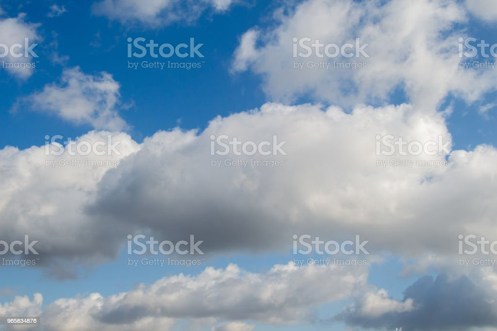 White color clouds found in the  blue sky - Royalty-free Abstract Stock Photo