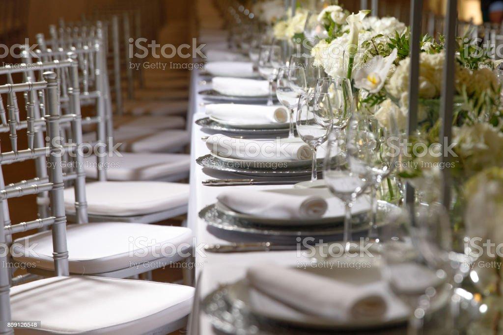 white color flower arrangement stock photo