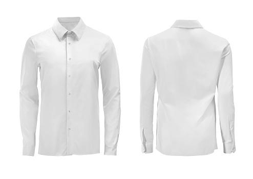 Beyaz Renk Resmi Gömlek Yaka Beyaz Izole Aşağı Tuşu Ile Stok Fotoğraflar & Bayan elbisesi'nin Daha Fazla Resimleri