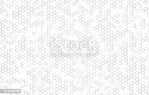 istock white color hexagone top view background 1078090386