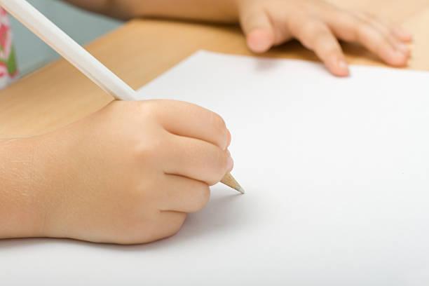 Weißer Farbe Bleistift, Bettlaken – Foto