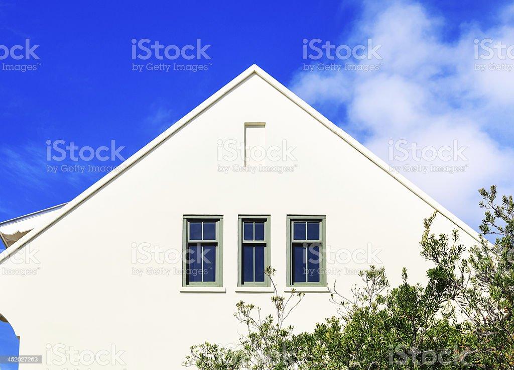 White colored home in Florida stock photo