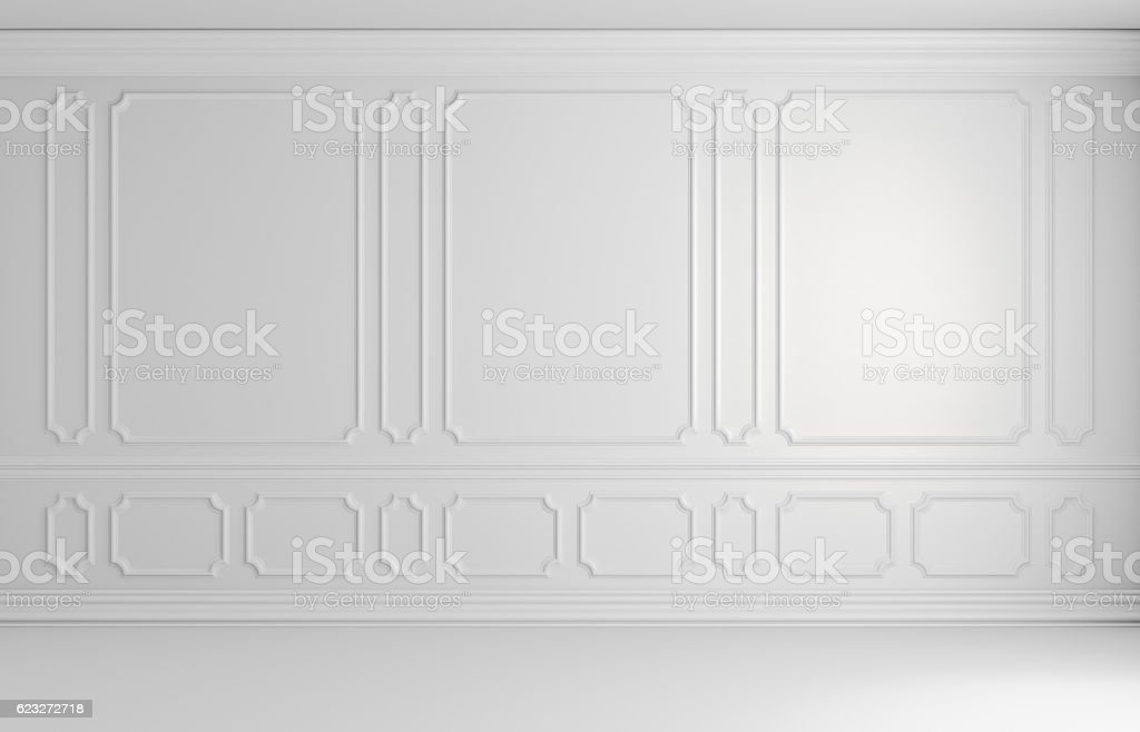White colorless wall in classic style empty room architectural b stock photo