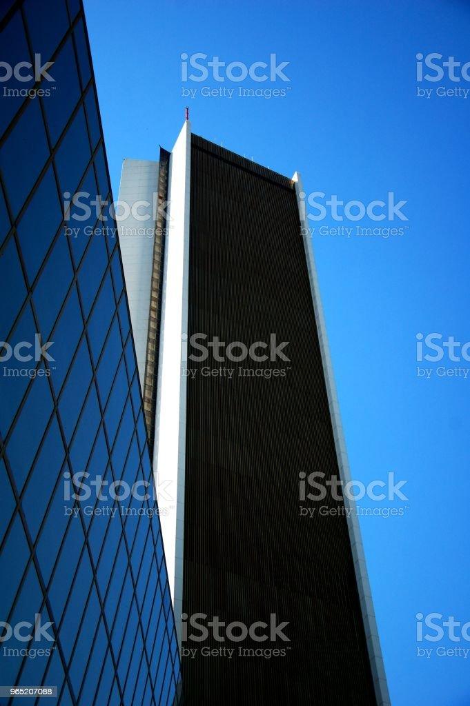 White Column Blue Sky zbiór zdjęć royalty-free