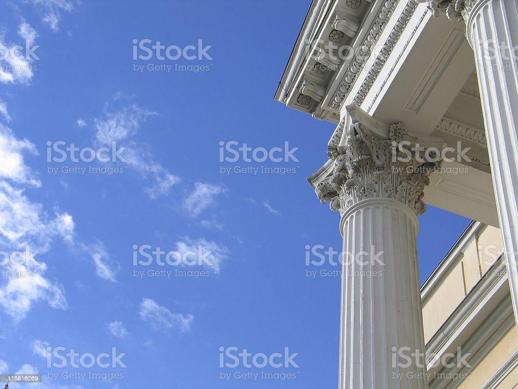 White column royalty-free stock photo