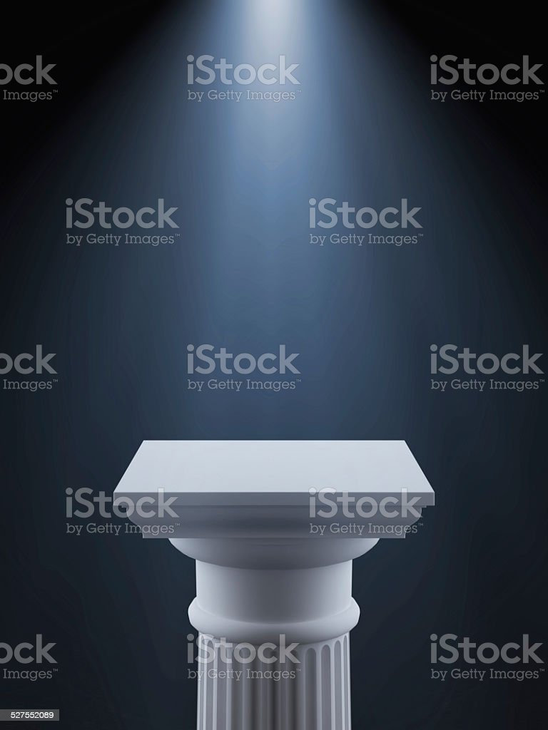 White column with light stock photo