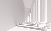 istock White columns in a row: neoclassical architecture 1311443860