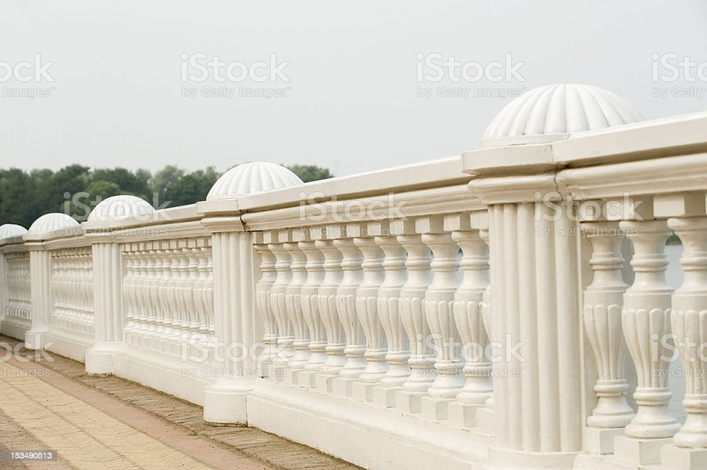 White columns in st. Petersburg, Russia stock photo
