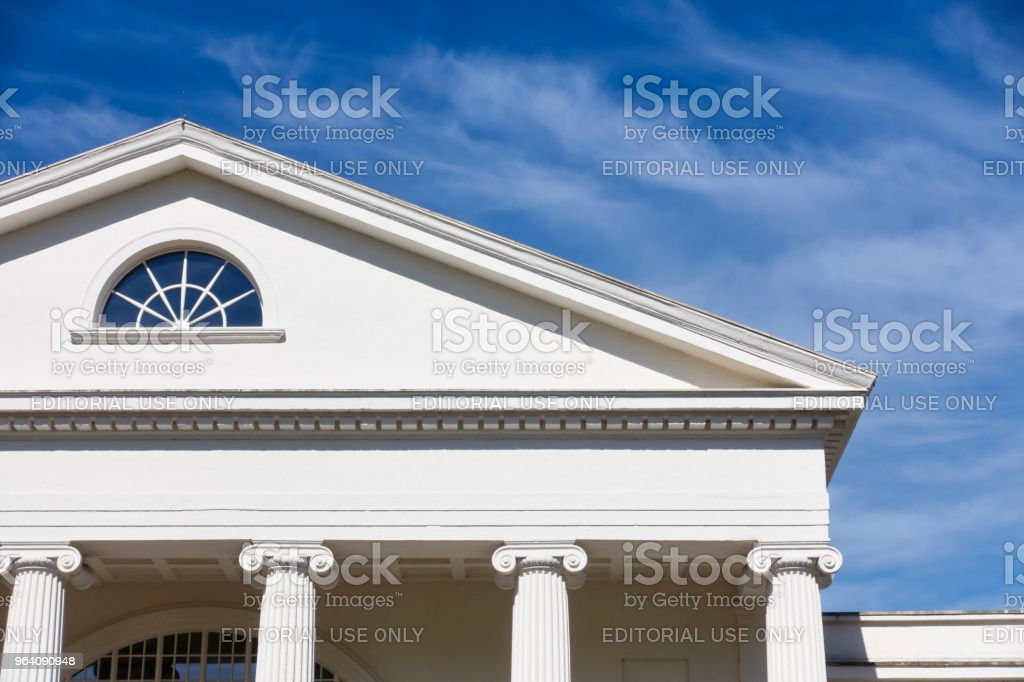 White columns of a classic white building - Royalty-free Architectural Column Stock Photo