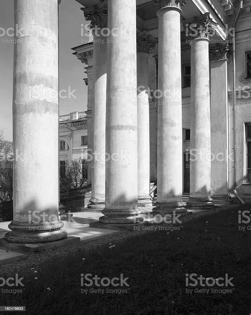 Colonnes blanches royalty-free stock photo