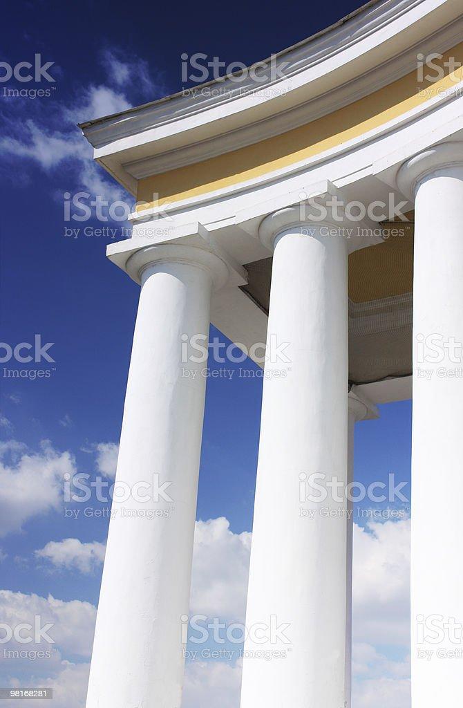 white columns royalty-free stock photo