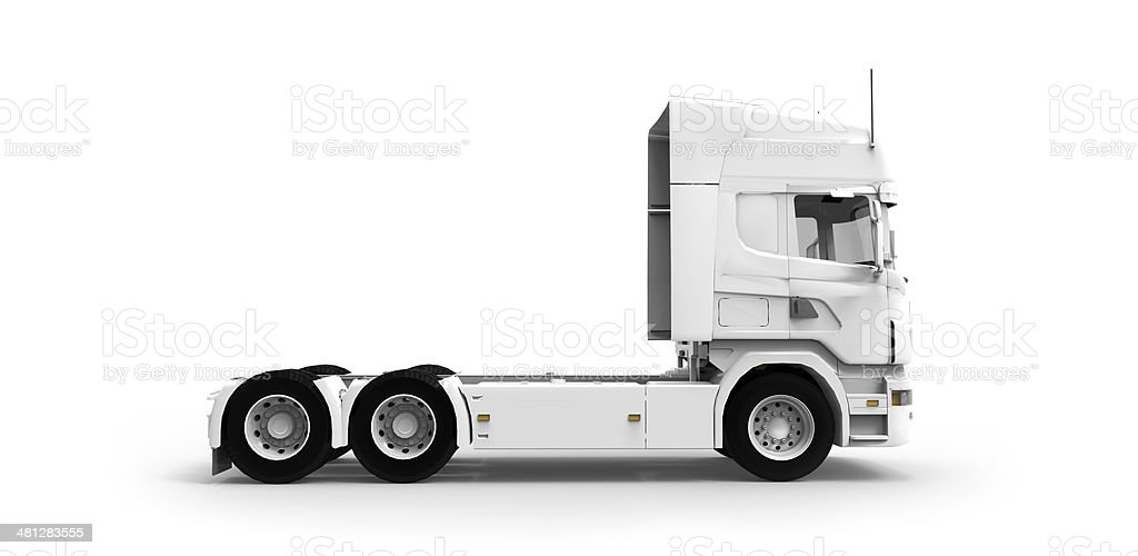 White commercial truck/lorry cap - Isolated stock photo