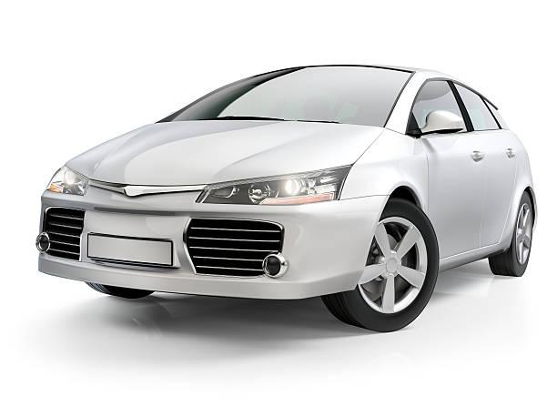 white autokompaktklasse - motionless in white stock-fotos und bilder
