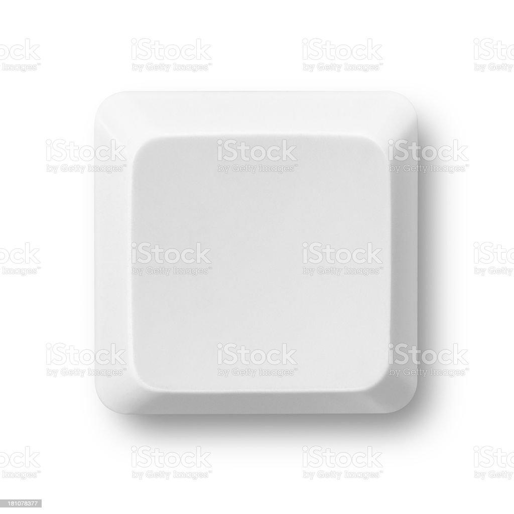 Tecla de ordenador blanco - foto de stock