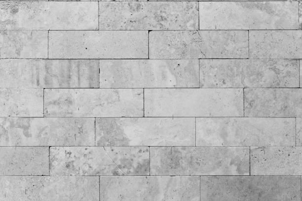 weißer betonblöcke textur und hintergrund. - betonblock wände stock-fotos und bilder