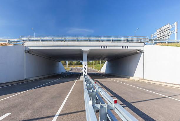 White concrete viaduct stock photo
