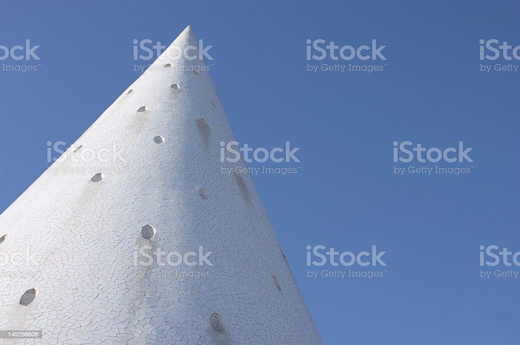 white cone of trencadis royalty-free stock photo