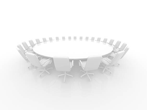 Weißer Konferenztisch – Foto