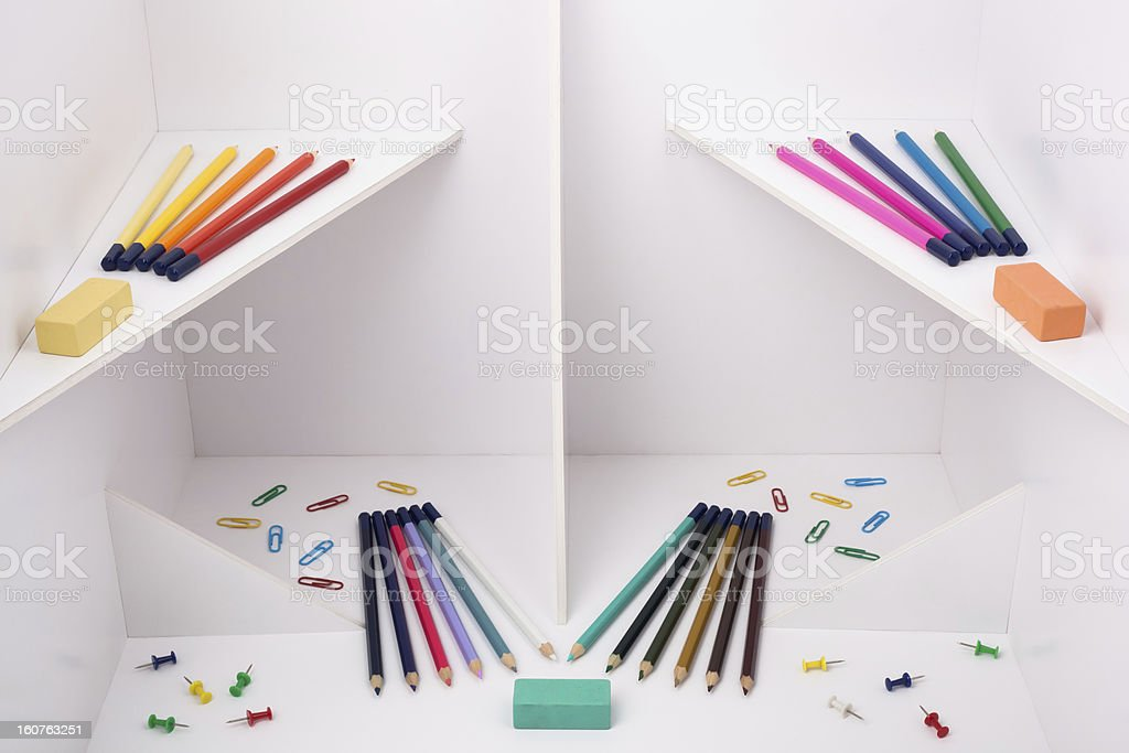 White construction with pencils royalty-free stock photo