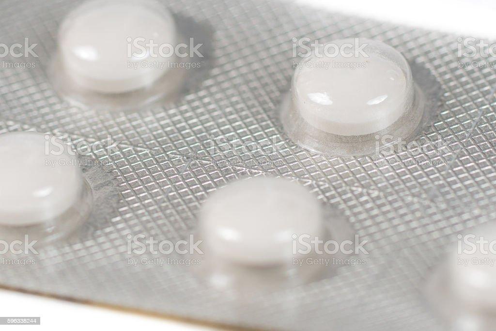 white contraception pills in blister Lizenzfreies stock-foto