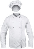 istock white cook suit with a hat 148155052