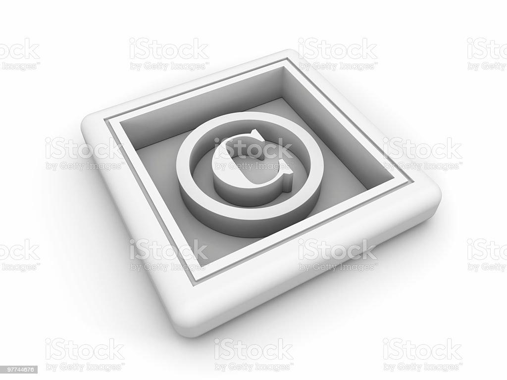 White Copyright Symbol royalty-free stock photo