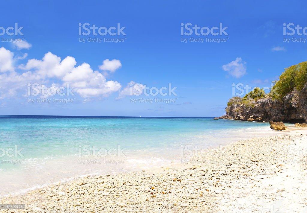 Weiße Coral Beach – Foto