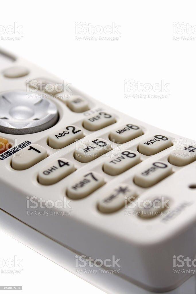 Biały bezprzewodowe klawiatury telefonu zbiór zdjęć royalty-free