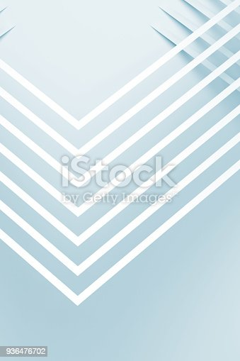 927319980 istock photo White corners with soft shadows. 3 d 936476702