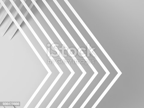 927319980 istock photo White corners with soft shadows. 3d 936476666