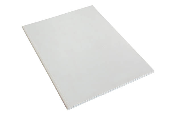white corporate report empty template stock photo