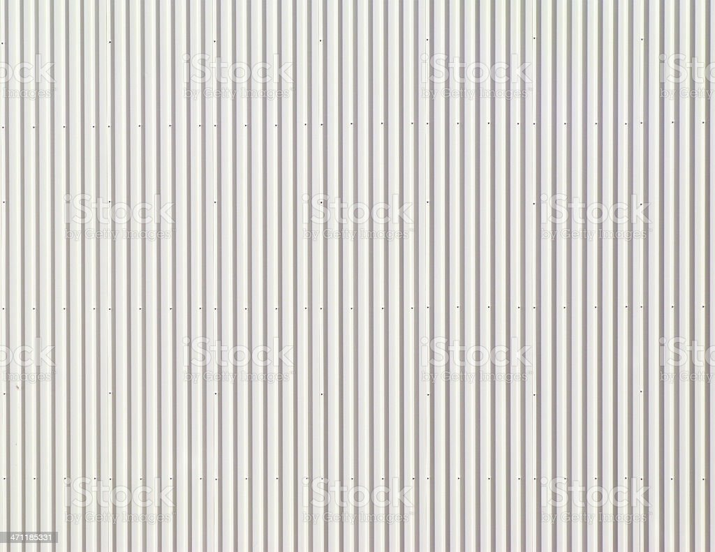 White Corrugated Metal Background. stock photo